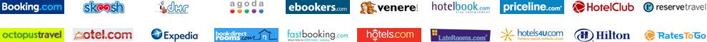 Viesnīcu rezervēšanas sistēmas: booking, skoosh, dhr, agoda, octopustravel, venere, hotels, expedia, ebookers, priceline, otel, hilton, hotelclub, hotelbook