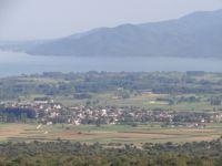 'ποψη της λίμνης Κερκίνης από ψηλά