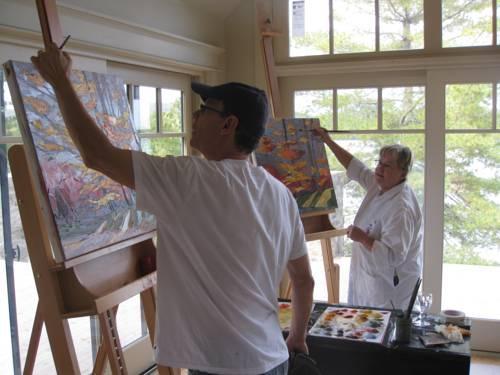 Gite et atelier de l 39 artiste peintre canadien gordon - Atelier artiste peintre ...