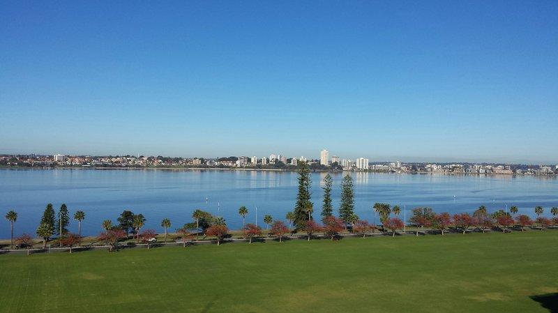 Hotel room views of Swan River