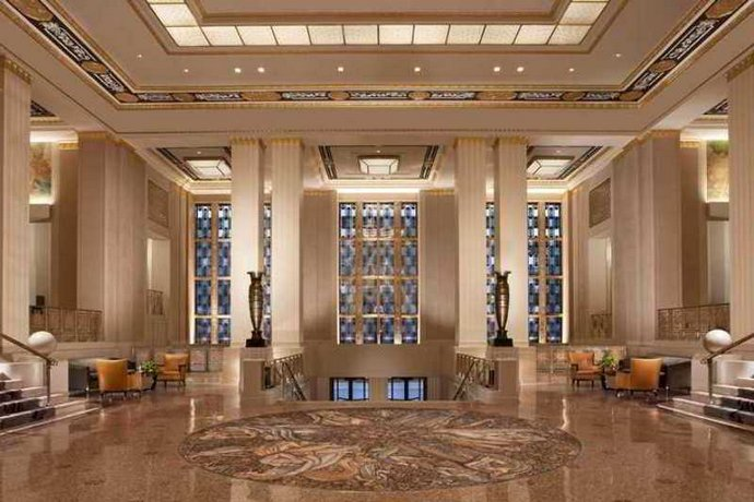 front desk at the  Waldorf Astoria